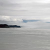 At sea approaching Hubbard Glacier.  Will the fog prevent viewing the glacier?