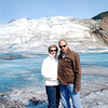 Ray and Jean on the Mendenhall Glacier.
