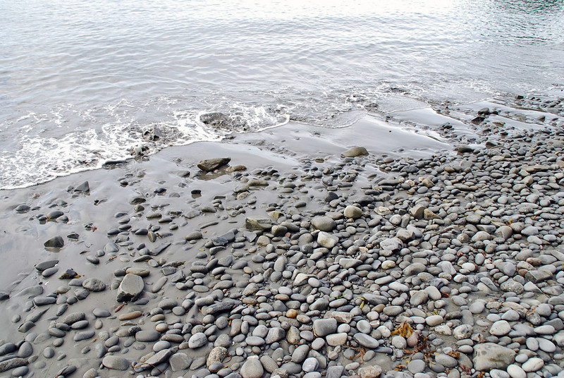 The rocky beach at Halibut Point State Recreation Site.