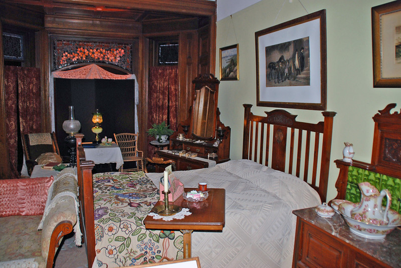 Jessie's Bedroom in Craigdarroch Castle.  Jessie was the daughter of Robert and Joan Dunsmuir.