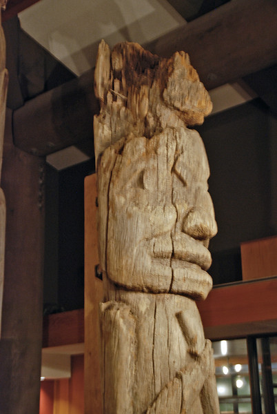 Totem pole on display at the Totem Heritage Center.