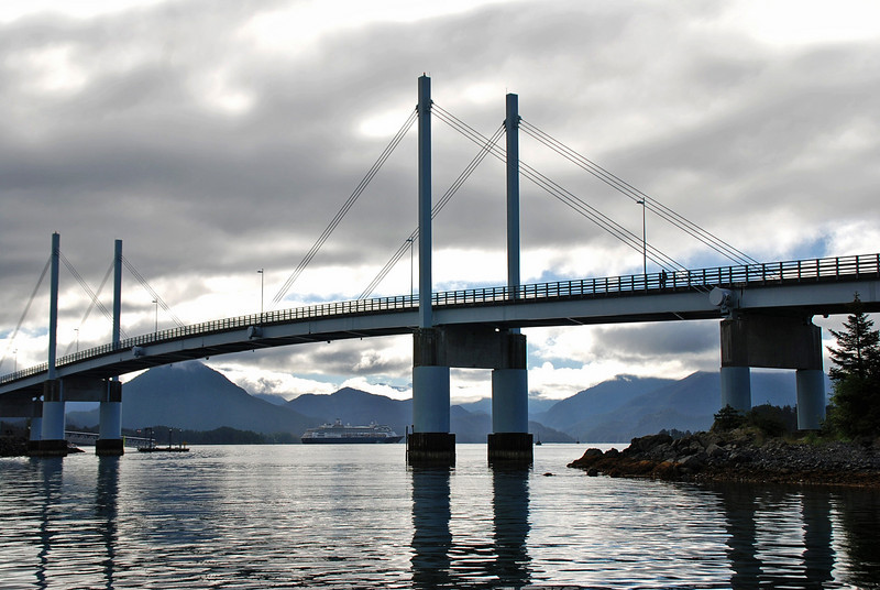 The O'Connell Bridge in Sitka was the first cable-stayed girder spanned bridge in the US built in 1971.