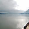 Sailing out of Disenchantment Bay into Yakutat Bay.