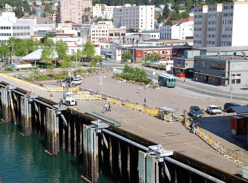 Approaching the port in Juneau.