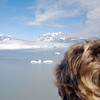 Jean watches as we approach Hubbard Glacier.