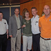 Ray and Jean with the first officer (left), Captain (to the right of Jean) and the ship's social director (far right) during cocktails with the ship's officers.