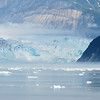 Hubbard Glacier.  Russell Fjord is just beyond the land on the right.