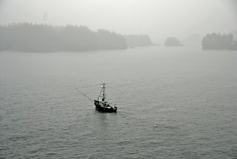 Commercial fishing vessel near Sitka, Alaska.