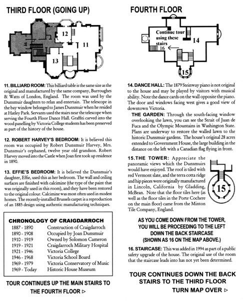 Craigdarroch Castle brochure (page 3 of 5).
