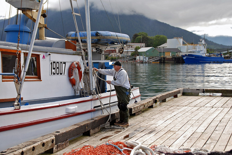 Getting ready to go fishing in Sitka, Alaska.