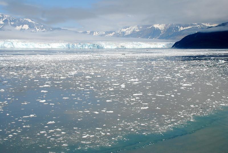Hubbard Glacier looking towards Russell Fjord.