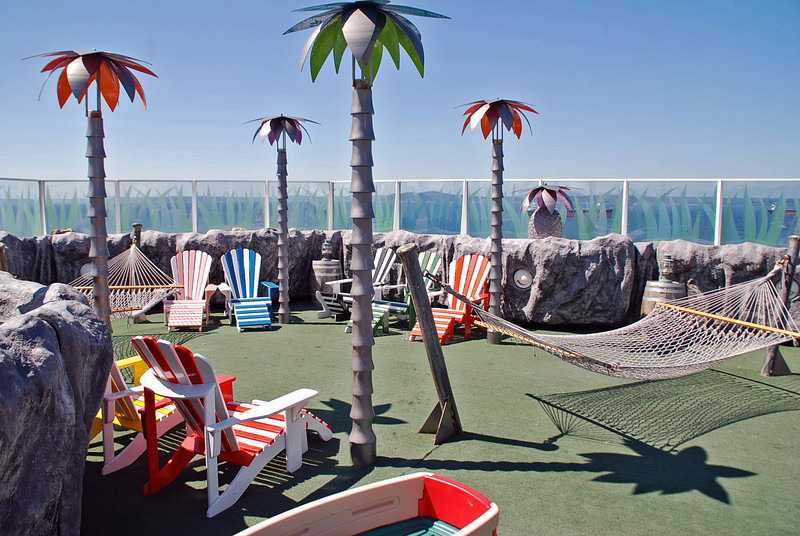 The Oasis on the top of the Zaandam was restricted to kids only during the cruise.