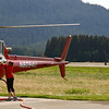 Adding fuel to our helicopter before departure to Mendenhall Glacier.