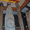 Totem poles on display at the Totem Heritage Center.
