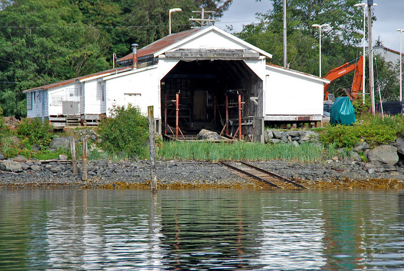 The Japonski Island Boathouse, a National Historic Landmark, was part of the Sitka Naval Air Station, the only defense installation in the North Pacific when the US entered WWII.