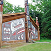 The clan house at Totem Bight State Historical Park could have housed 30 to 50 people.