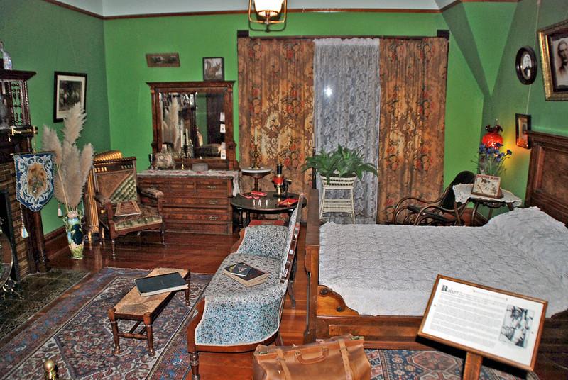 Robert Dunsmuir Harvey's Bedroom in Craigdarroch Castle.  Robert Harvey was Mrs. Dunsmuir's orphaned grandson.