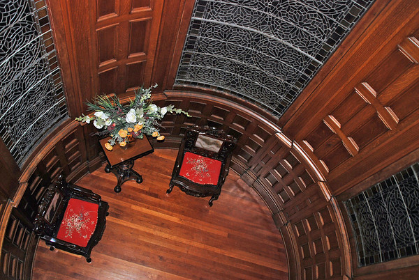 A view of the tower room from above.