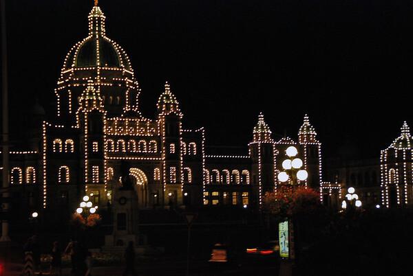 The British Columbia Parliament Building.