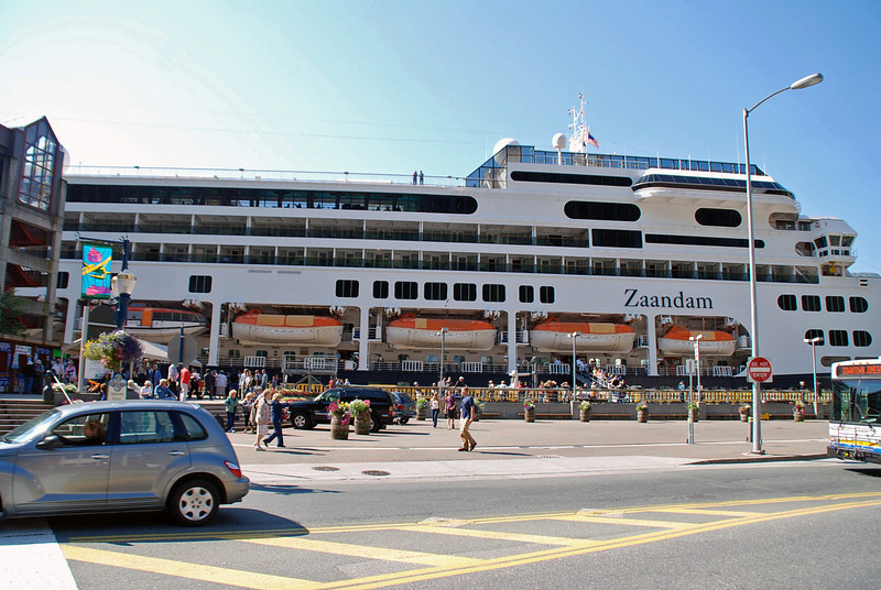 Our ship, Holland America Zaandam, in port at Juneau, Alaska.