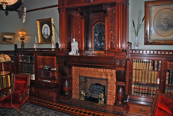 The Library at the Cragdarroch Castle.