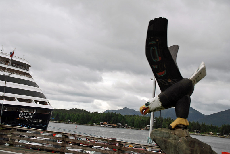 The Zaandam berthed at the harbor at Ketchikan, Alaska.