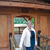 Jean at the bird viewing shelter at Starrigavan Recreation Area.