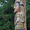The Master Carver Pole at Totem Bight State Historical Park.