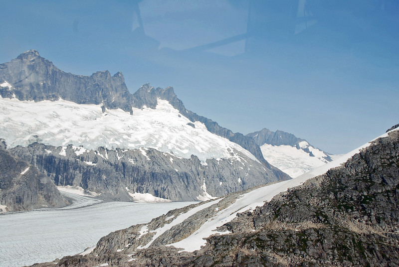 View from the helicopter on way to Mendenhall Glacier.