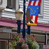 Decorated lightpost in Juneau.