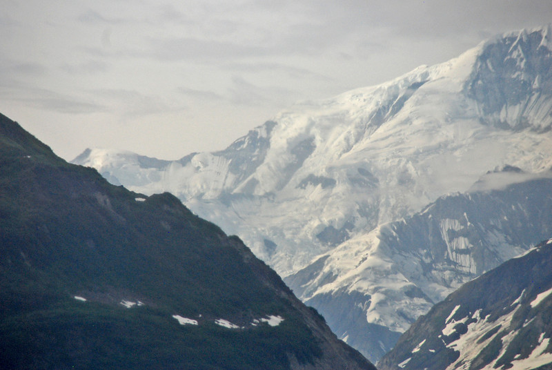 The mountains of Alaska near Yakutat Bay.