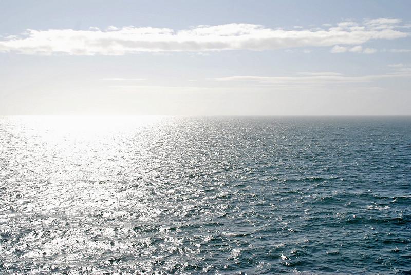 At sea sailing from Ketchikan, Alaska to Vancouver, Canada.