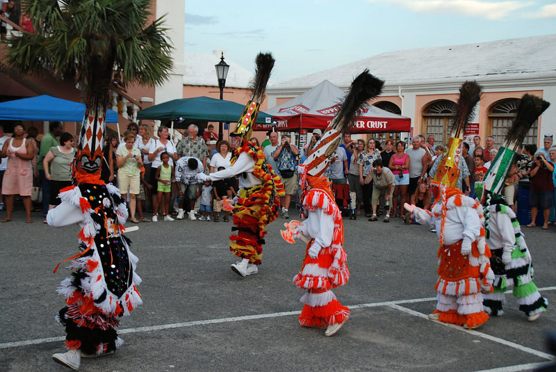 The Gombey Dancers.