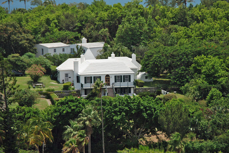 A Bermuda home viewed from Fort Scaur.
