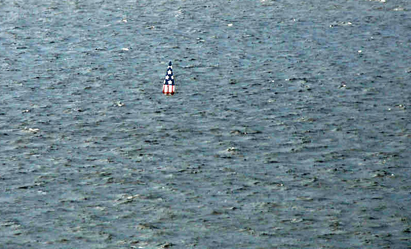 The buoy marking where Francis Scott Key's truce ship was located while watching the Britsh bombardment of Fort McHenry.