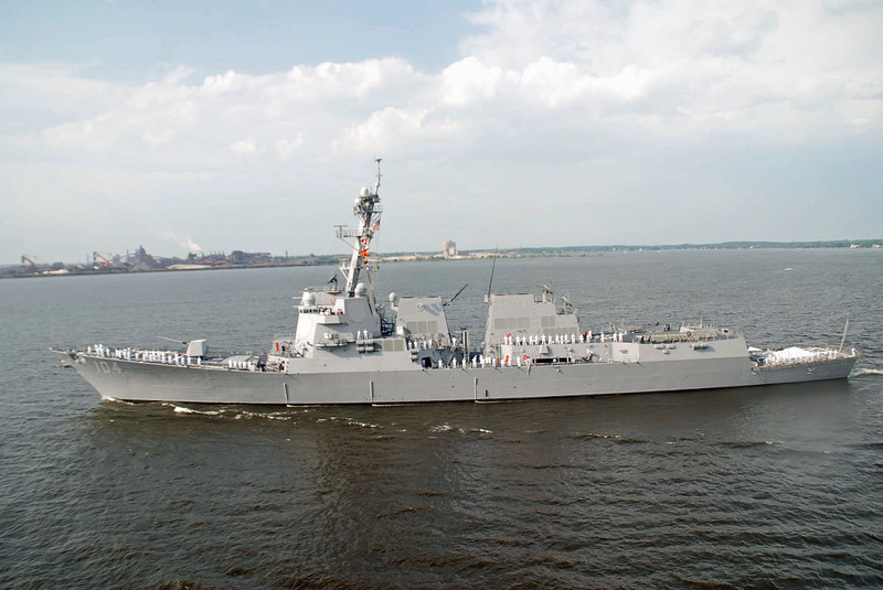 The USS Sterett destroyer.