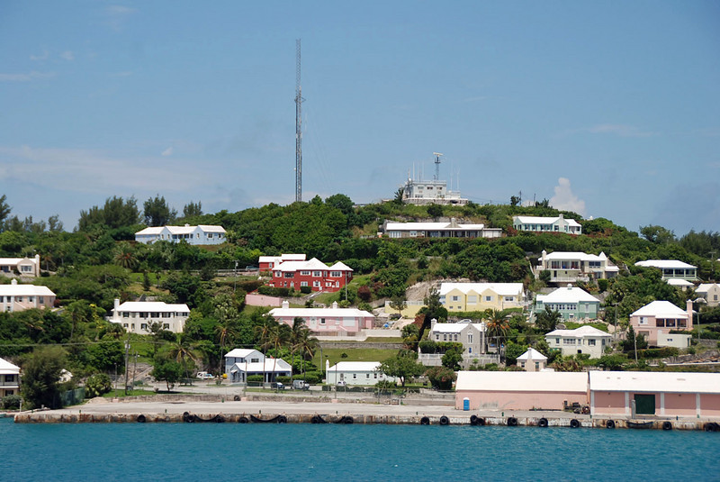 Some of the houses overlooking the St. George Harbor.
