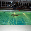 Jean takes a latenight swim aboard ship.