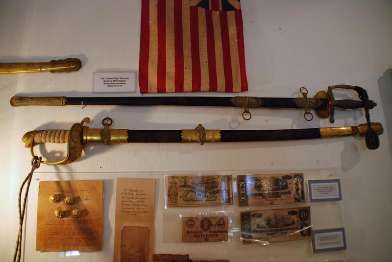 Naval swords.