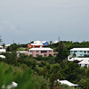 Bermuda houses.  The white roofs are required by law and catch the rainwater for drinking, etc.