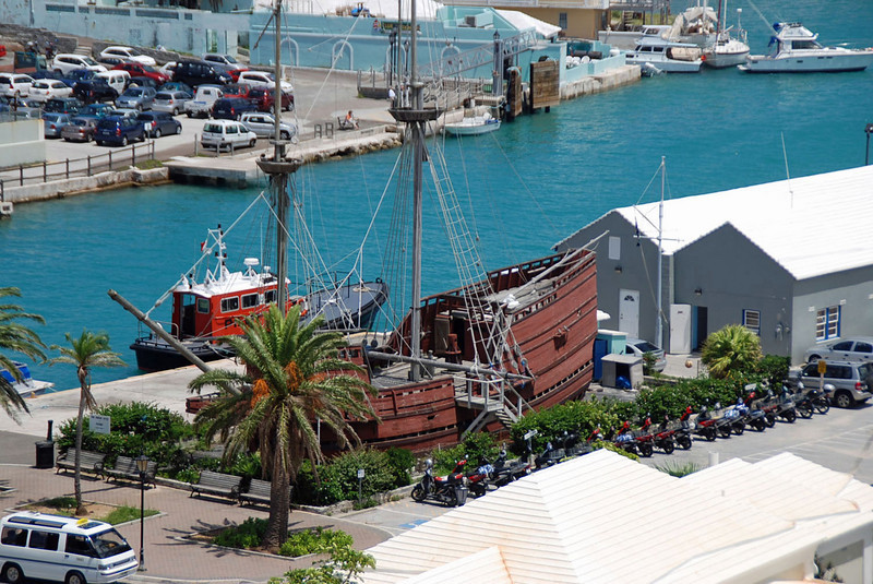 A replica of the Deliverance, a ship built by the survivors wrecked on Bermuda in 1609 which started the settlement of Bermuda.