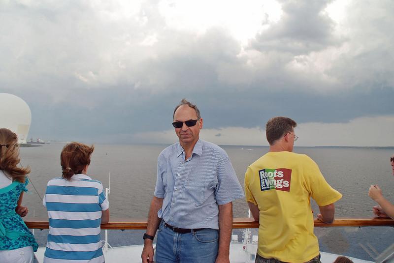 Raymond Finkleman on the top deck.