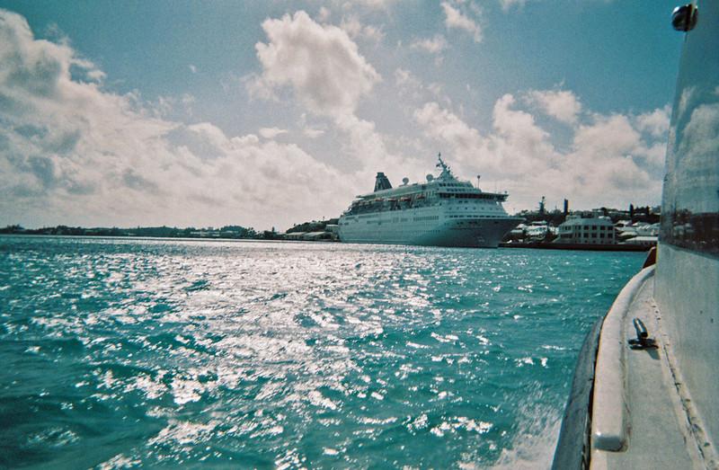 Approaching the Norwegian Majesty.