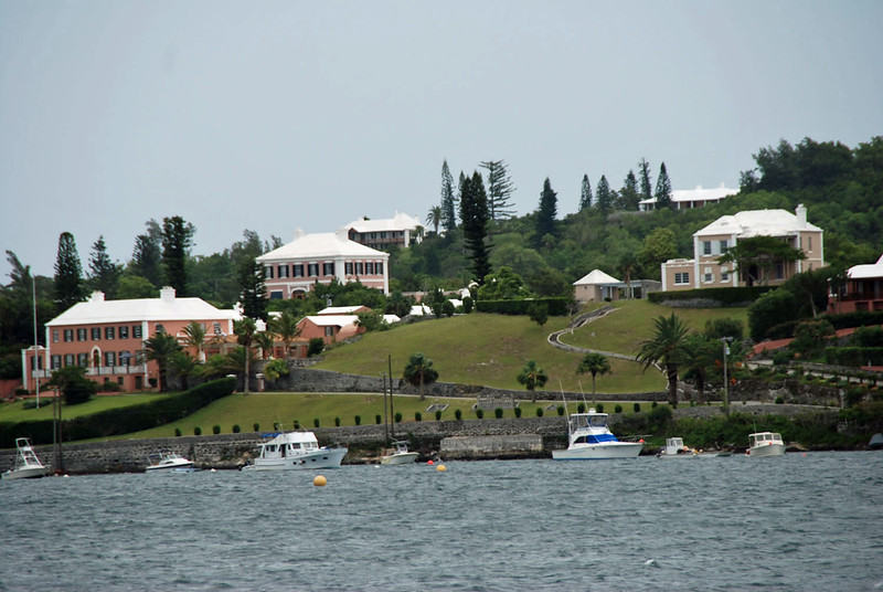 Bermuda homes across the water from Hamilton.