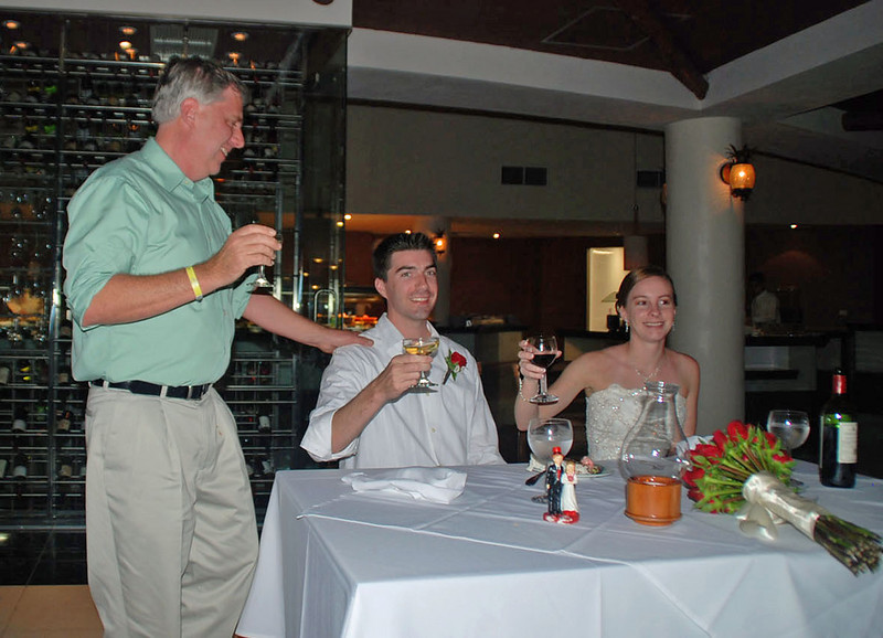 Father of groom, Mark, making a toast to the happy couple