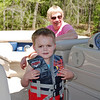 Parker on the boat with Grandma Shirley Kelly.