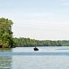 Boating on the Mountain Island Lake.