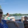 Jean, Lisa & Parker enjoying the lake.