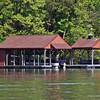 A boathouse on the Mountain Island Lake.