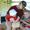 Michael and his sons, Ryan and Parker.